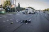 В Киеве, на Кольцевой дороге грузовик смерти попал человек