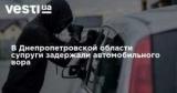 В Днепропетровской области супруги задержали автомобильного вора