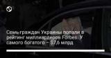 Семь граждан Украины попали в рейтинг миллиардеров Forbes. У самого богатого – $7,6 млрд