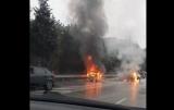 В Крыму после лобового столкновения загорелись два авто, есть жертва