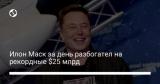 Илон Маск за день разбогател на рекордные $25 млрд